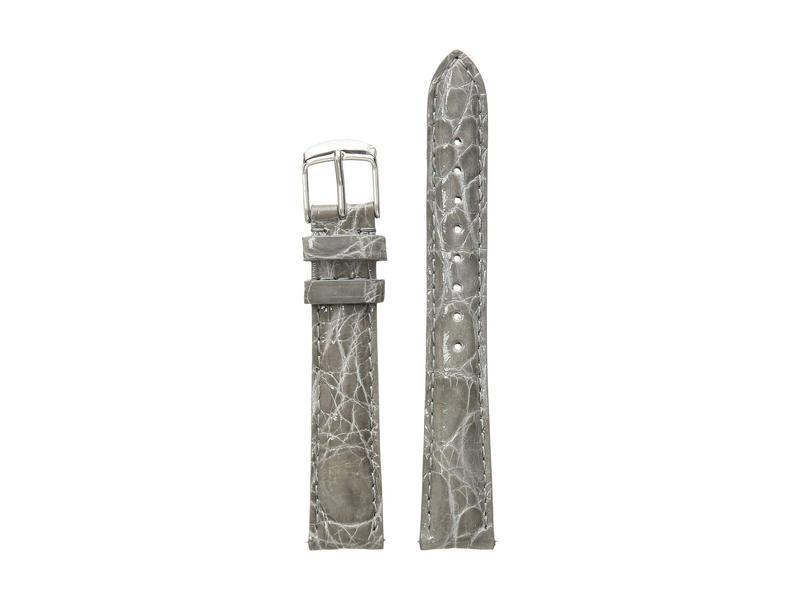 ミッシェル レディース 腕時計 アクセサリー 16mm Leather Strap Crocodile Grey Grey