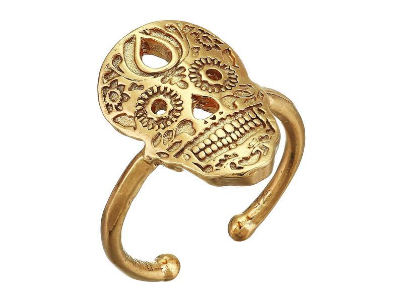 アレックスアンドアニ レディース リング アクセサリー Calavera Statement Adjustable Ring - Precious Metal 14KT Gold Plated