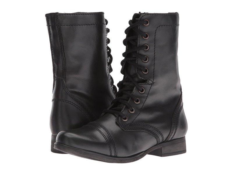 スティーブ マデン レディース ブーツ・レインブーツ シューズ Troopa Combat Boot Black Leather