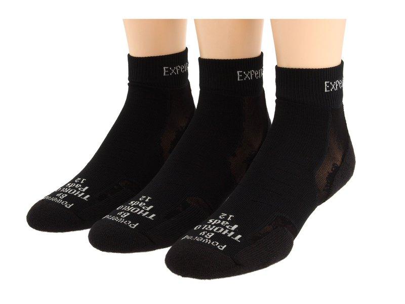 ソーロス メンズ 靴下 アンダーウェア Experia Mini Crew 3-Pair Pack Solid Black