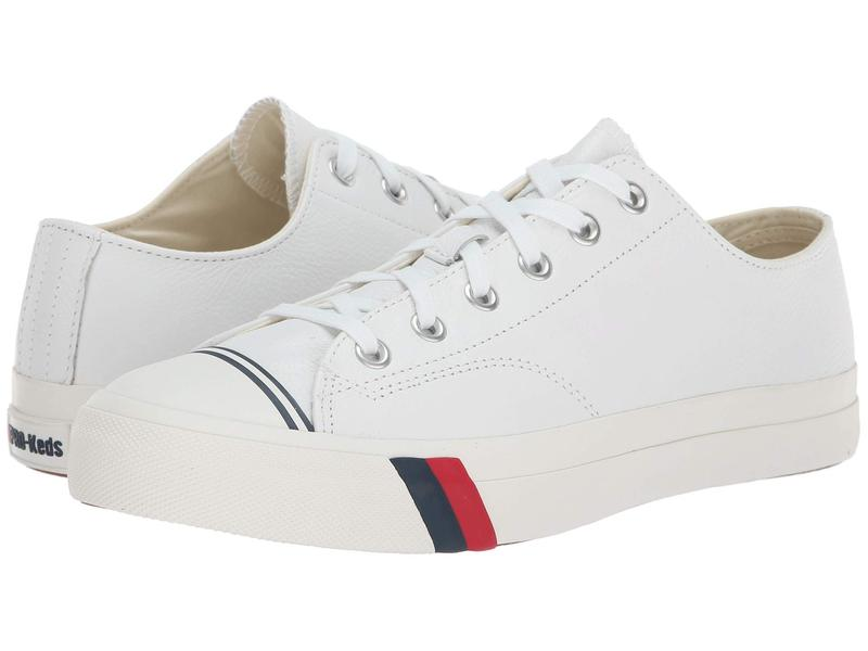 ケッズ メンズ スニーカー シューズ Pro-Keds Royal Lo Core Leather White Leather