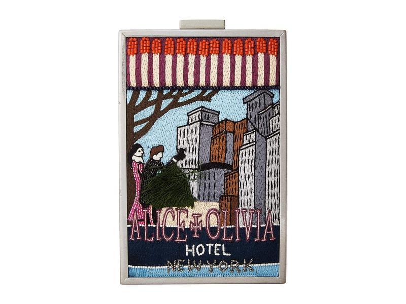 アリス アンド オリビア レディース ハンドバッグ バッグ Sophia Matchbox Hotel New York North/South Clutch Multi
