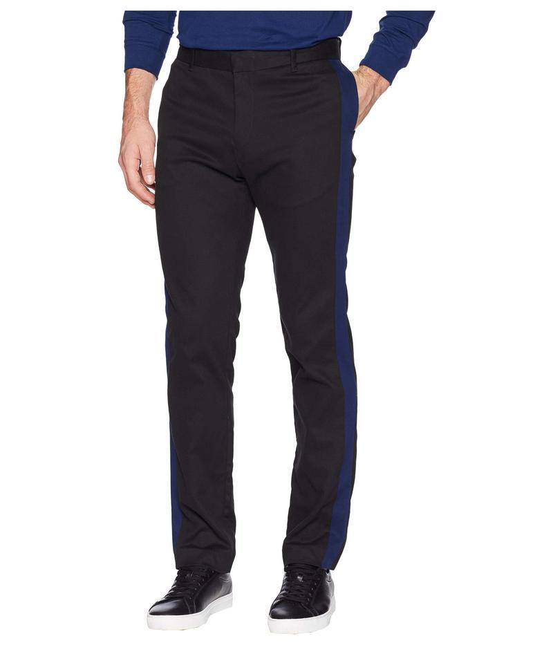 カルバンクライン メンズ カジュアルパンツ ボトムス Contrast Stripe Cotton Stretch Pants Black