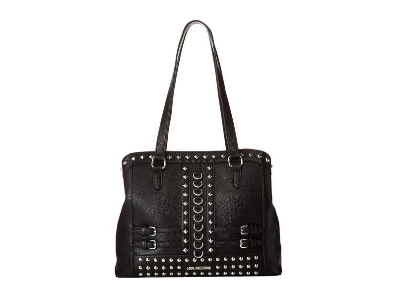 ラブ モスキーノ レディース ハンドバッグ バッグ Shoulder Bag with Belt Studs Black
