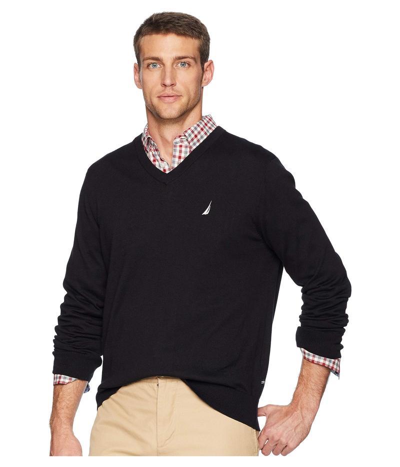 ナウティカ メンズ ニット・セーター アウター V-Neck Sweater True Black