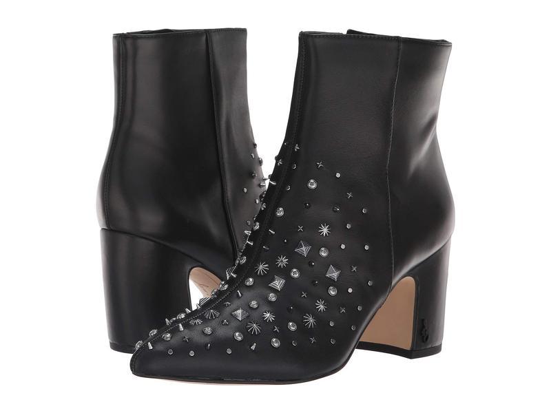 サムエデルマン レディース ブーツ・レインブーツ シューズ Hal Black Modena Calf Leather