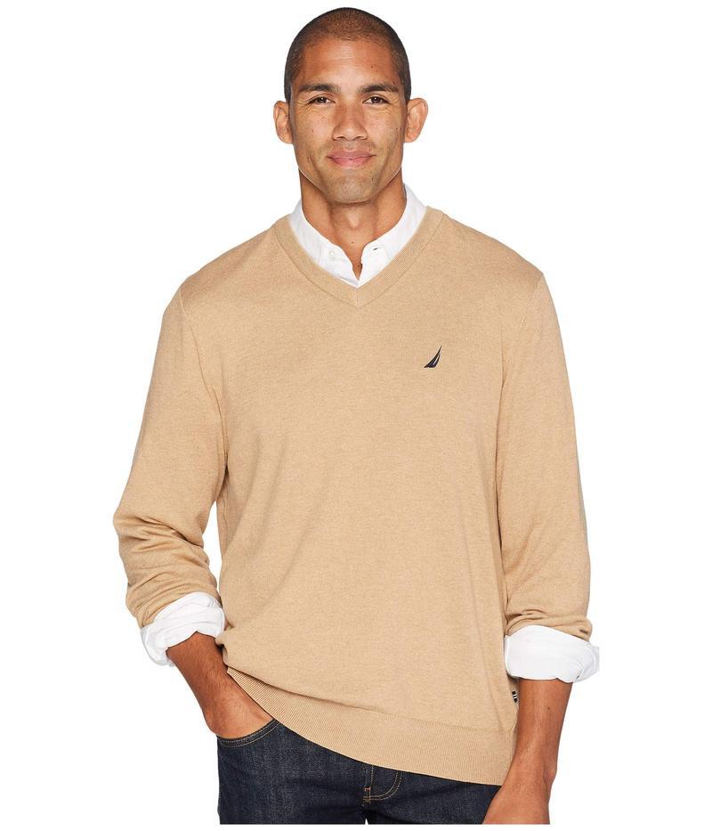 ナウティカ メンズ ニット・セーター アウター 12 Gauge Jersey V-Neck Sweater Camel Heather