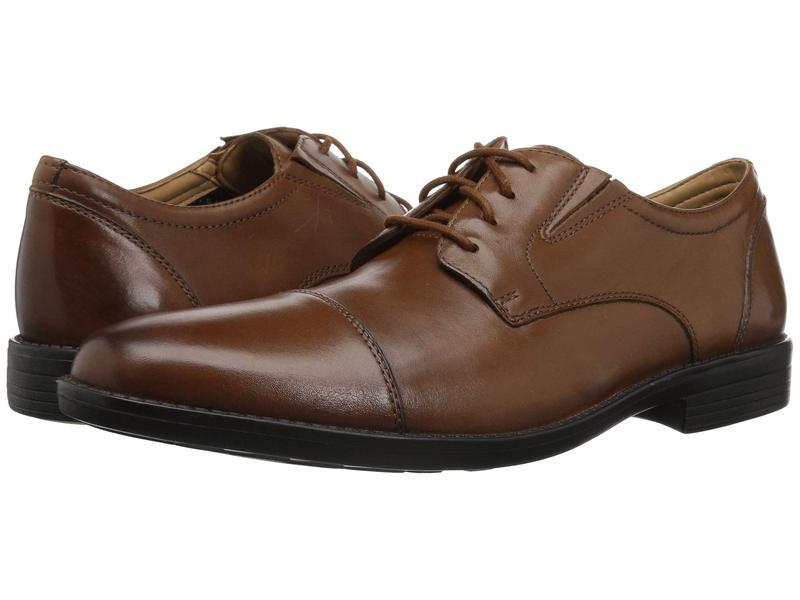 ボストニアン メンズ オックスフォード シューズ Birkett Cap Dark Tan Leather