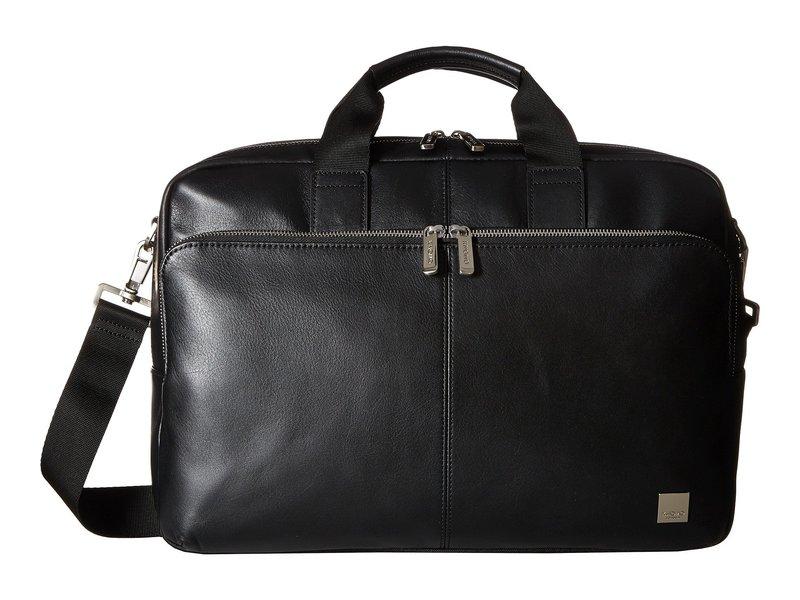 クノモ メンズ ビジネス系 バッグ Brompton Classic Amesbury Double Zip Briefcase Black