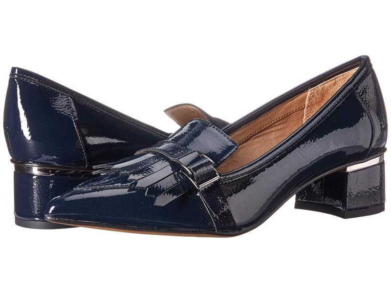 フランコサルト レディース ヒール シューズ Grenoble Lapis Blue Crinkle Patent
