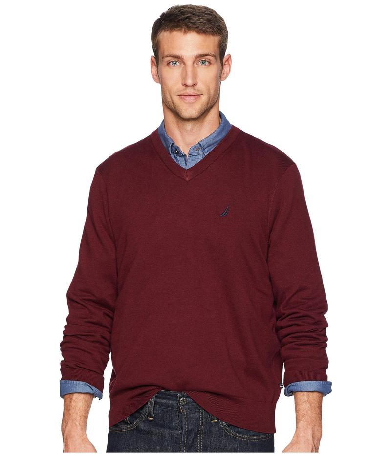 ナウティカ メンズ ニット・セーター アウター 12 Gauge Jersey V-Neck Sweater Royal Burgundy