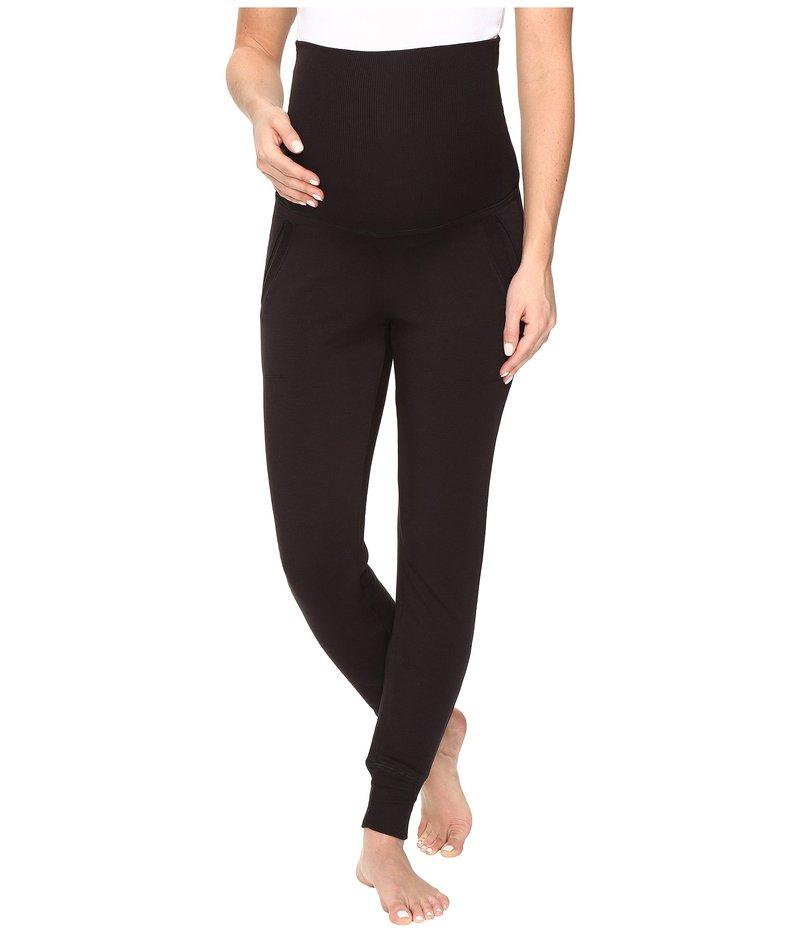 Fleece カジュアルパンツ Sweatpants ビヨンドヨガ Cozy Maternity Black ボトムス レディース