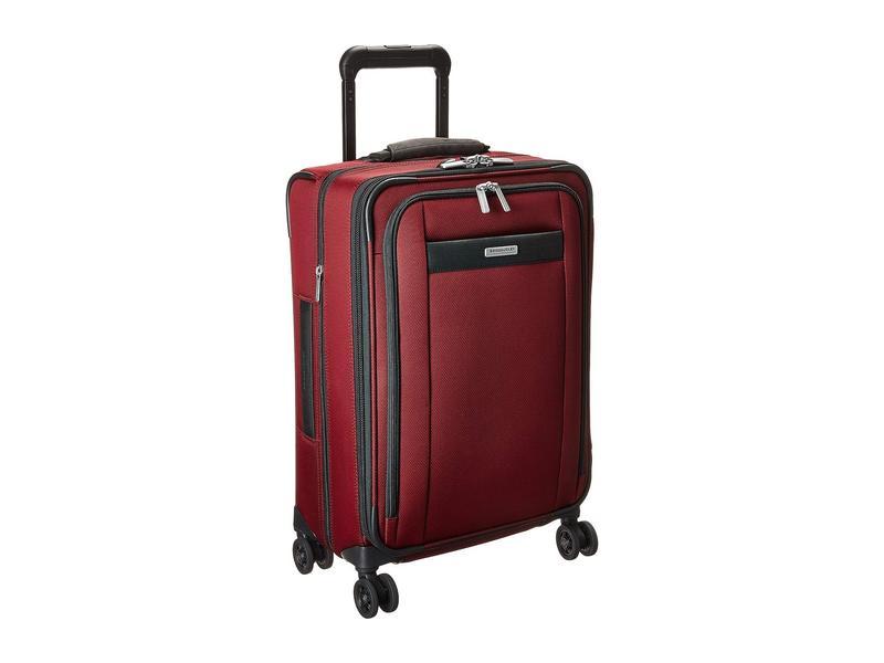 ブリグスアンドライリー メンズ ボストンバッグ バッグ Transcend VX Tall Carry-On Zip Expandable Spinner Merlot Red