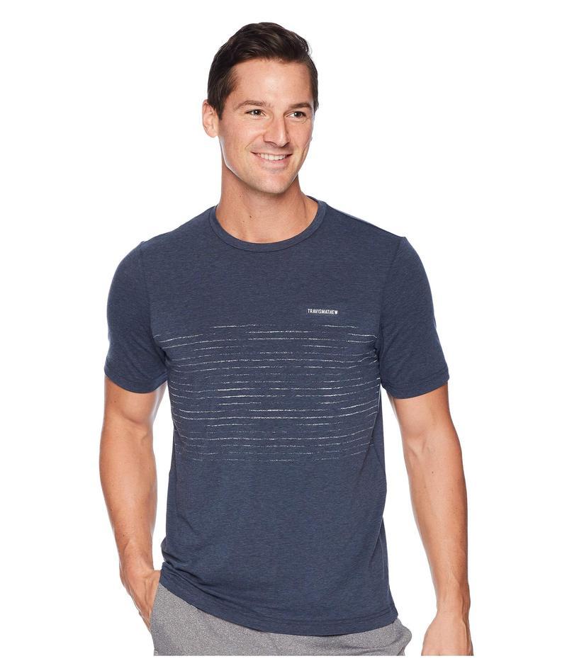 トラビスマヒュー メンズ シャツ トップス Laze T-Shirt True Navy/Black