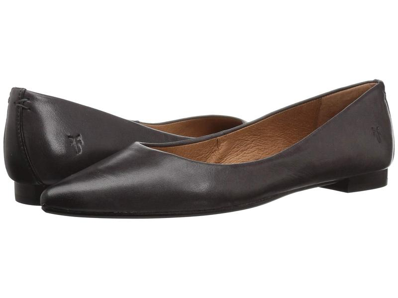 フライ レディース サンダル シューズ Sienna Ballet Charcoal Polished Soft Full Grain