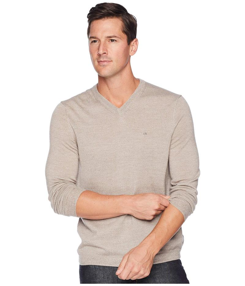 カルバンクライン メンズ ニット・セーター アウター Solid Merino V-Neck Sweater Racconigi