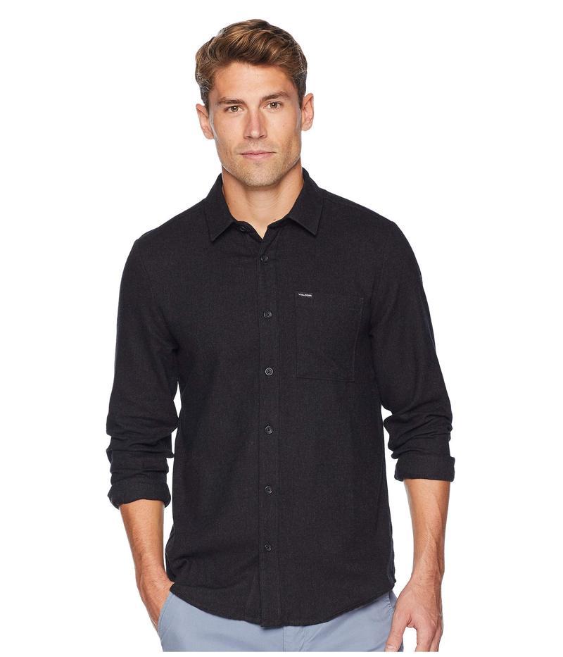 ボルコム メンズ シャツ トップス Caden Solid Long Sleeve Black