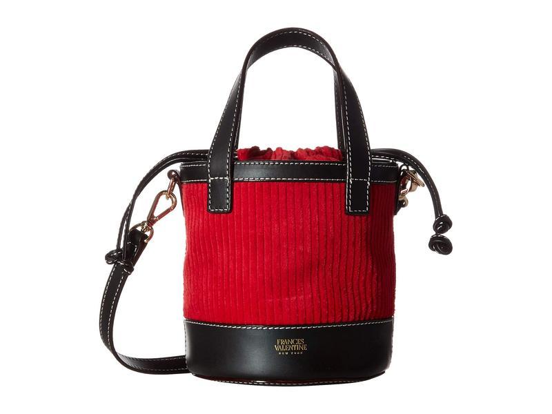 フランセスバレンタイン レディース ハンドバッグ バッグ Small Bucket Red
