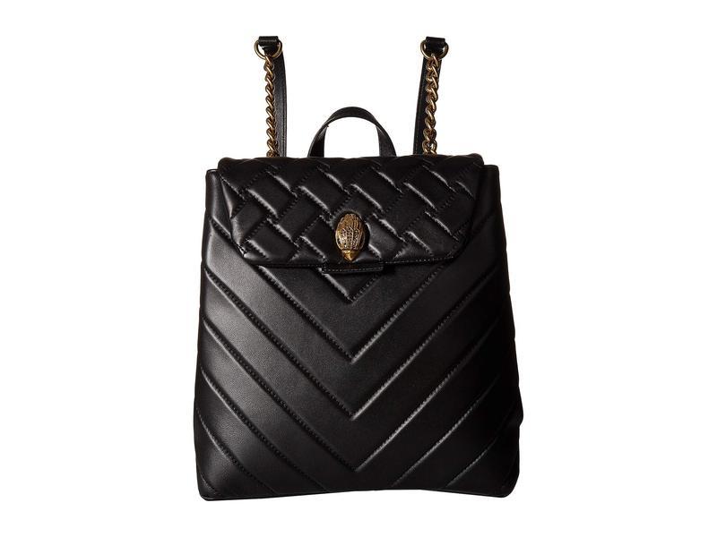 カートジェイガーロンドン レディース バックパック・リュックサック バッグ Leather Kensington Backpack Black