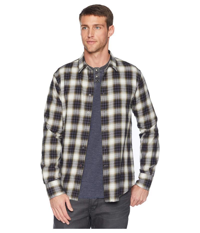ジョンバルバトス メンズ シャツ トップス Long Sleeve Button Front Shirt w/ Wire Collar Tent Green