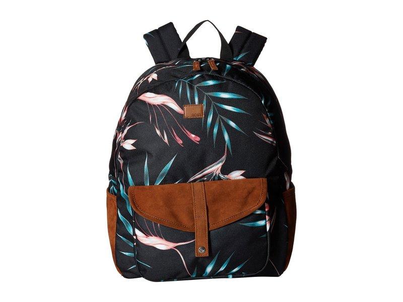 ロキシー レディース バックパック・リュックサック バッグ Carribean Backpack Anthracite Stormy Flowers