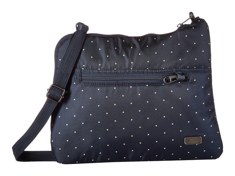 パックセーフ レディース ハンドバッグ バッグ Daysafe Anti-Theft Slim Crossbody Bag Navy Polka Dot
