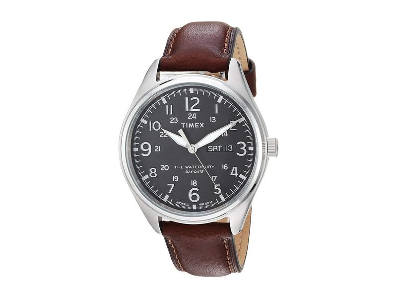 タイメックス メンズ 腕時計 アクセサリー Waterbury Traditional Black/Brown