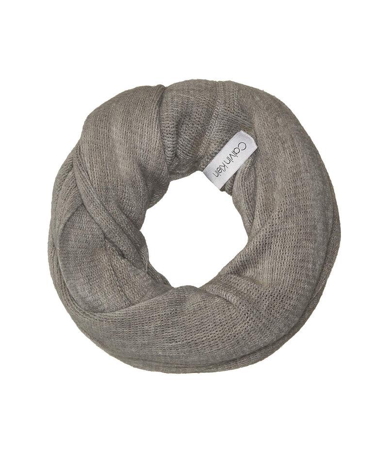 カルバンクライン レディース マフラー・ストール・スカーフ アクセサリー Basic Wrap Knit Loop Heathered Mid Grey