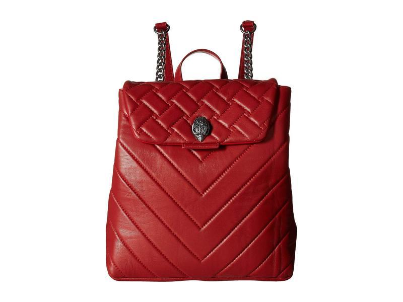 カートジェイガーロンドン レディース バックパック・リュックサック バッグ Leather Kensington Backpack Red