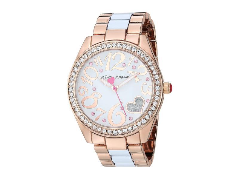 ベッツィジョンソン レディース 腕時計 アクセサリー 37BJ00685-29BX Glitter Heart Rose Gold