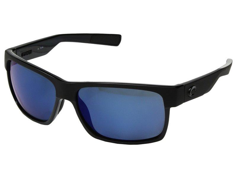 コスタ メンズ サングラス・アイウェア アクセサリー Half Moon Shiny Black/Matte Black Frame/Blue Mirror 580P
