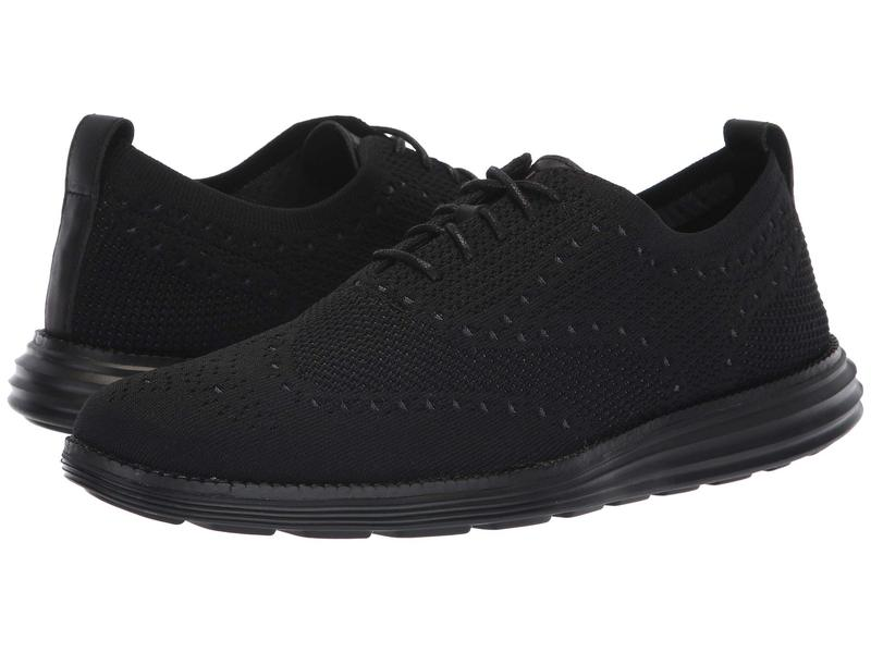 コールハーン メンズ スニーカー シューズ Original Grand Stitchlite Wingtip Oxford Black/Black