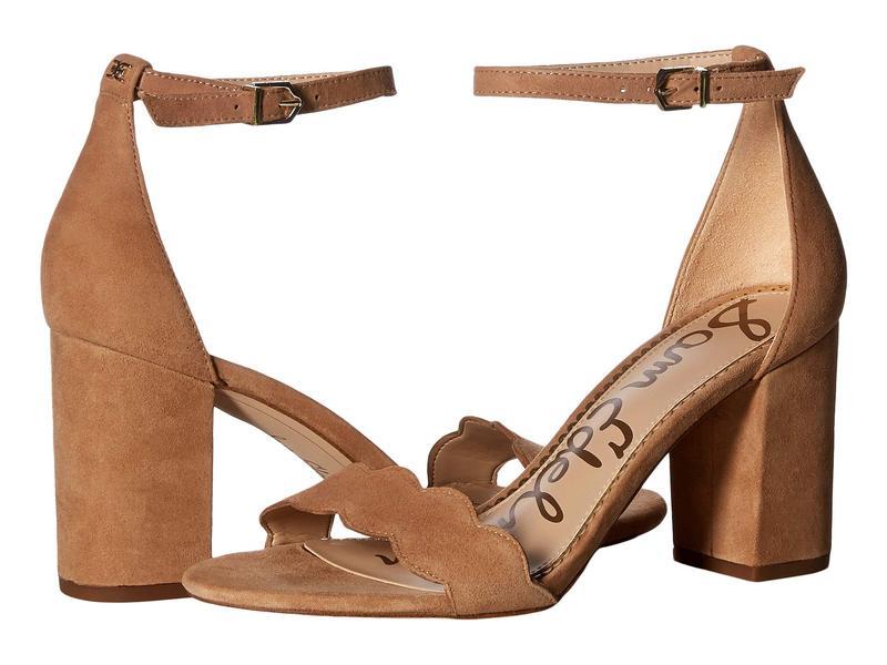 サムエデルマン レディース ヒール シューズ Odila Ankle Strap Sandal Heel Camel Suede Leather