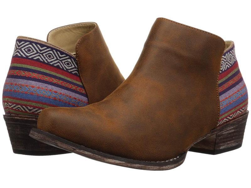 ローパー レディース ブーツ・レインブーツ シューズ Sedona Cognac Faux Leather Vamp/Serape Heel