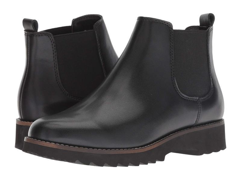 ブロンド レディース ブーツ・レインブーツ シューズ Roman Waterproof Black Leather