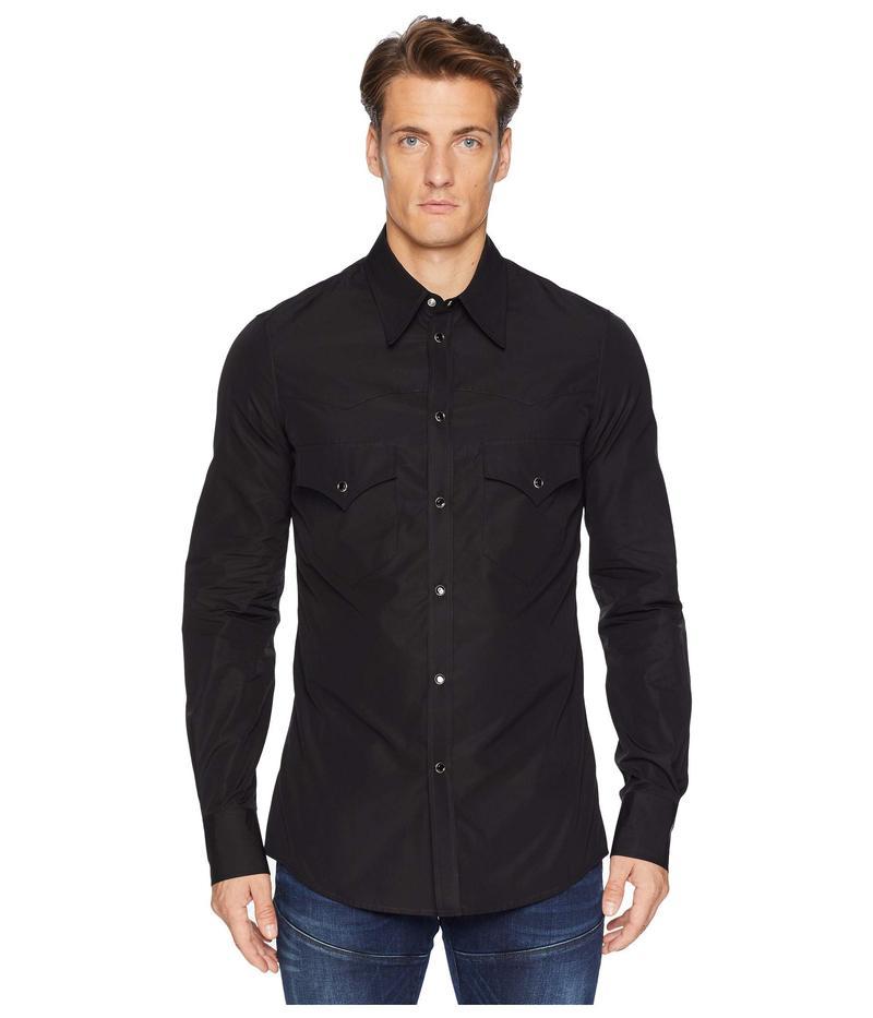 ディースクエアード メンズ シャツ トップス Poplin Western Shirt Black