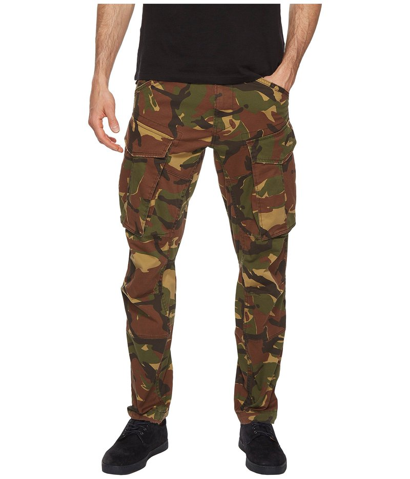 ジースター メンズ カジュアルパンツ ボトムス Rovic 3D Tapered Army Pants Dark Fall All Over