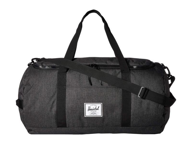 ハーシェルサプライ メンズ ボストンバッグ バッグ Sutton Black Crosshatch/Black