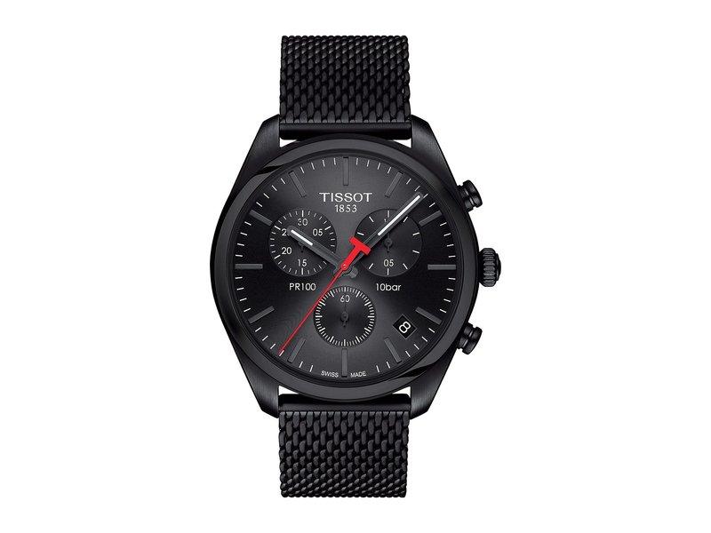 ティソット メンズ 腕時計 アクセサリー PR 100 Chronograph - T1014173305100 Silver/Black