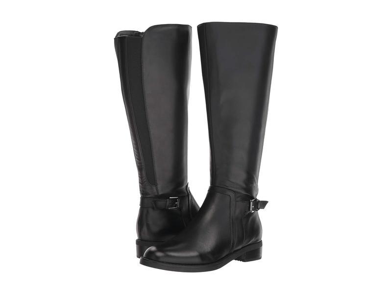 ブロンド レディース ブーツ・レインブーツ シューズ Evie Wide Shaft Boot Waterproof Black Leather