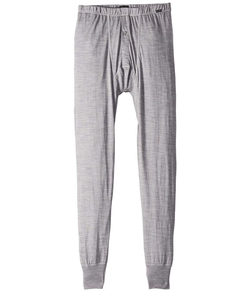 ハンロ メンズ カジュアルパンツ ボトムス Light Merino Long Leg Pant Silver
