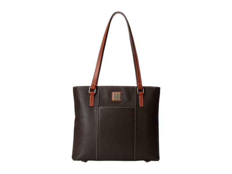 ドーネイアンドバーク レディース ハンドバッグ バッグ Pebble Leather New Colors Small Lexington Shopper Chocolate w/ Tan Trim