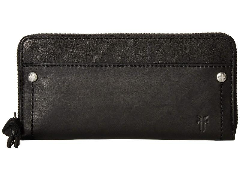 フライ レディース 財布 アクセサリー Demi Zip Wallet Black Antique Soft Vintage