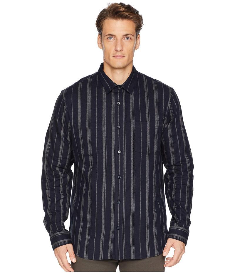 ヴィンス メンズ シャツ トップス Flannel Stripe Long Sleeve Coastal