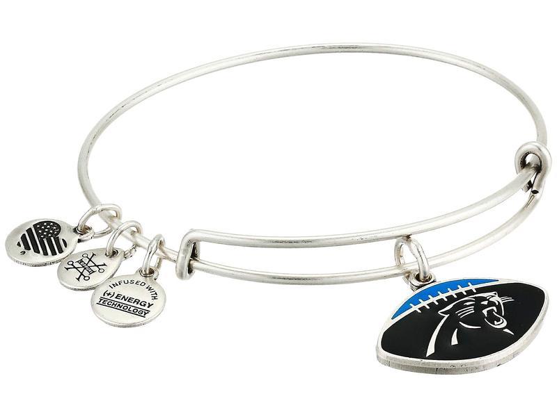 アレックスアンドアニ レディース ブレスレット・バングル・アンクレット アクセサリー Color Infusion Carolina Panthers Football II Bangle Rafaelian Silver