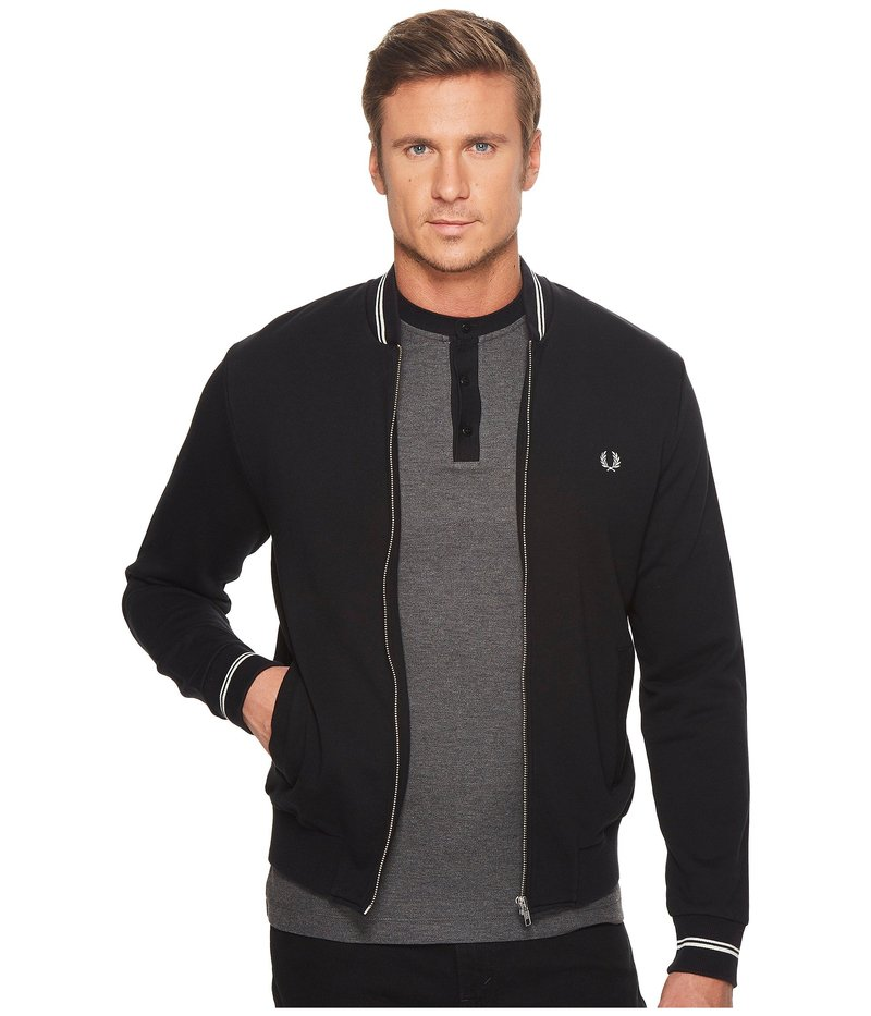 フレッドペリー メンズ ニット・セーター アウター Bomber Neck Sweater Black