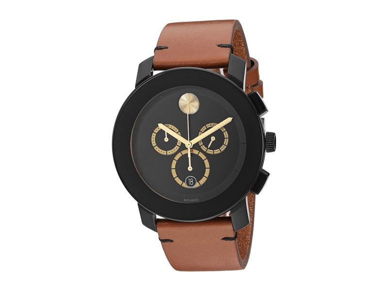 モバド メンズ 腕時計 アクセサリー TR90 - 3600540 Black/Dark Brown