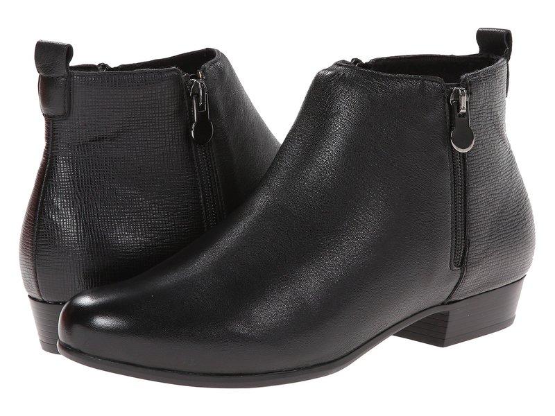 ムンロー レディース ブーツ・レインブーツ シューズ Lexi Black Leather/Print