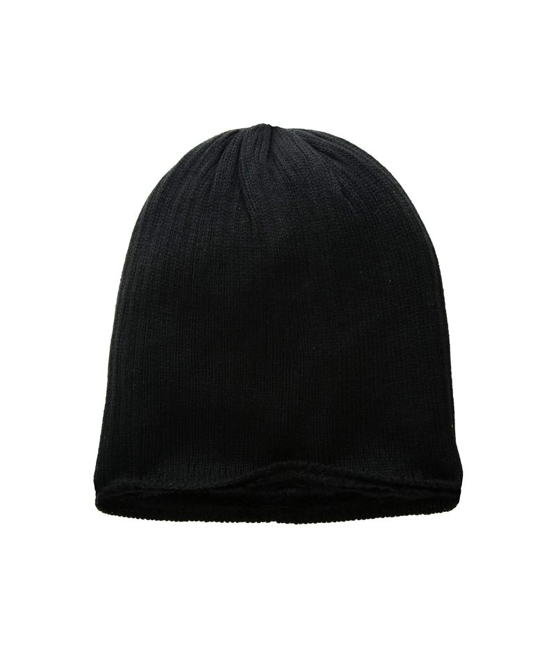 ハットアタック レディース 帽子 アクセサリー Rib Knit Cozy Beanie Black