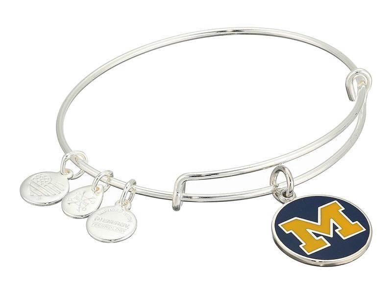 アレックスアンドアニ レディース ブレスレット・バングル・アンクレット アクセサリー Color Infusion University of Michigan Logo II Bangle Shiny Silver